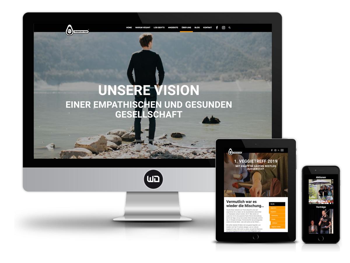 Website für veganen Verein Kinzigtal goes Vegan